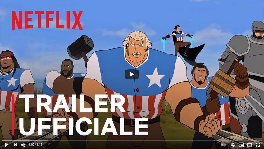 America: Il Film - trailer italiano del film animato di Netflix